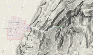 Kanarra Falls topographical map